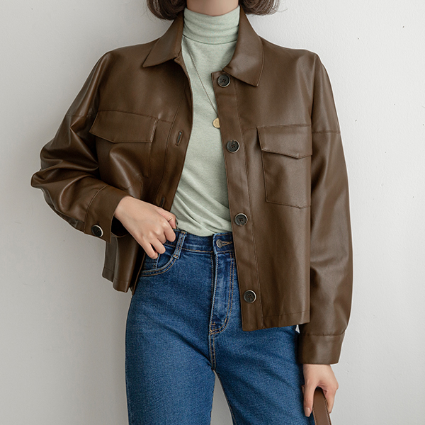 canmart-[카라레더자켓 C091330]♡韓國女裝外套