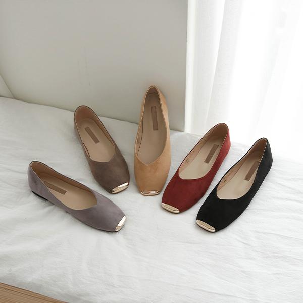 canmart-[미니금장세무플랫 C090954]♡韓國女裝鞋