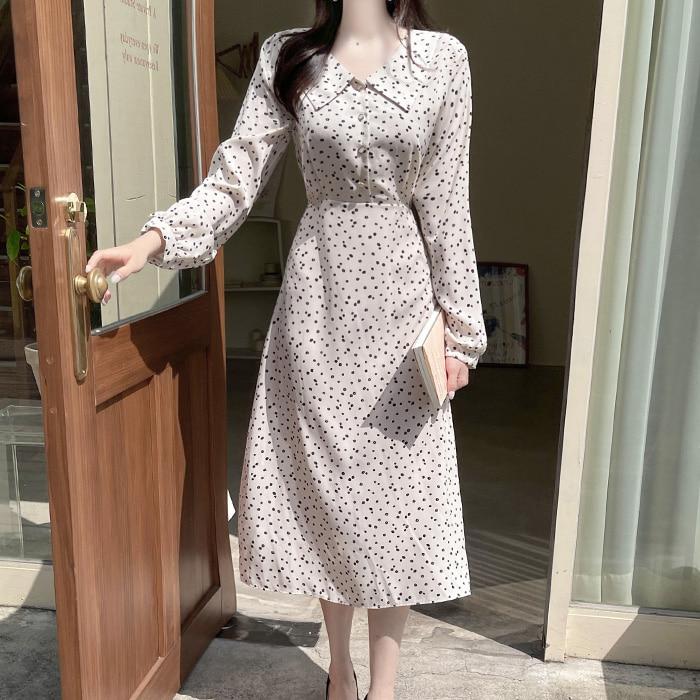 myfiona-카밀 플라워 도트 카라 원피스 a1846 - 러블리 로맨틱 1위 쇼핑몰 피오나♡韓國女裝連身裙