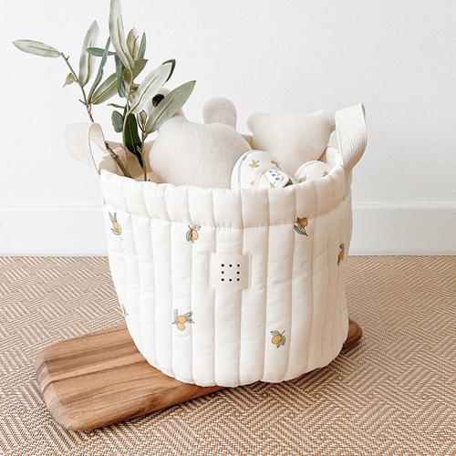 dottodot 橄欖花印花收納籃子