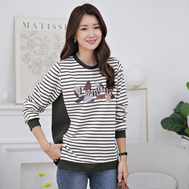 tiramisu-363영문반짝포인트단가라티♡韓國女裝上衣