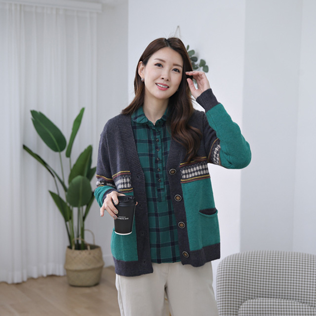 tiramisu-365 다원 가운데페이즐나염가디건♡韓國女裝外套