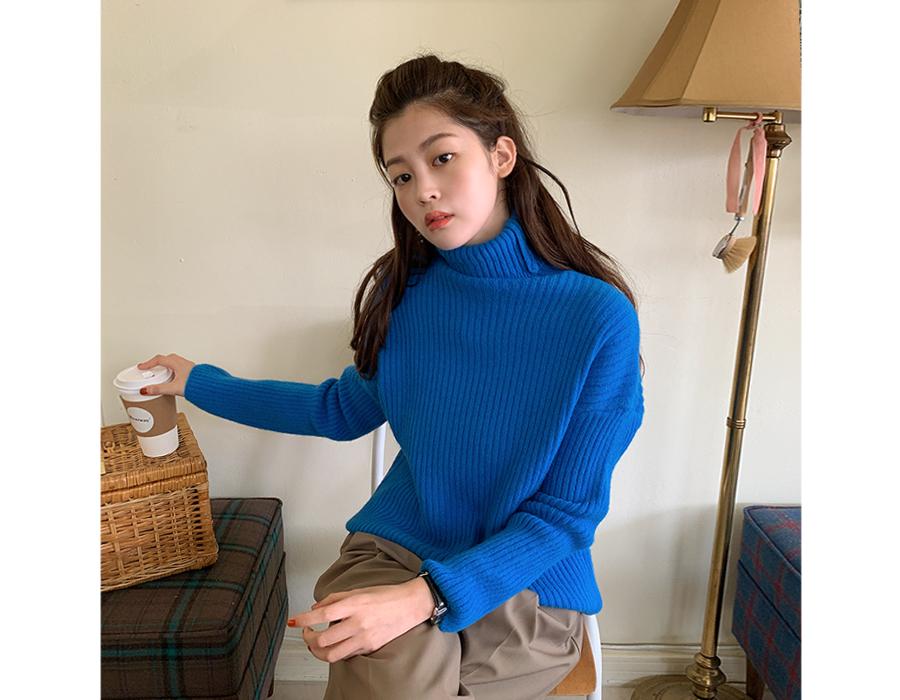 frombeginning-베이글 골지울폴라니트 (6color)♡韓國女裝上衣