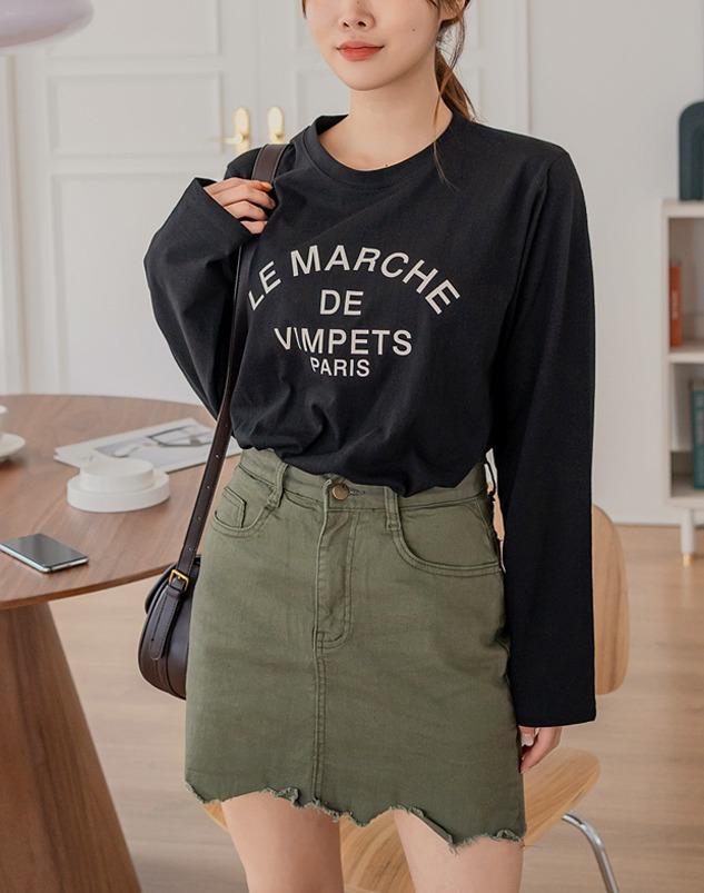 loloten-마르쉘 긴팔 티셔츠♡韓國加大碼上衣