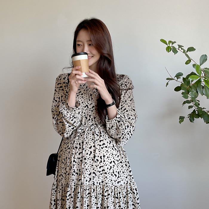 momnuri- 임부복*큐레인 스트링 원피스 ♡韓國孕婦裝連身裙