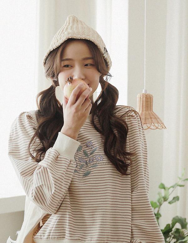 goroke-[바이올렛 스트라이프MTM*2c]♡韓國女裝上衣