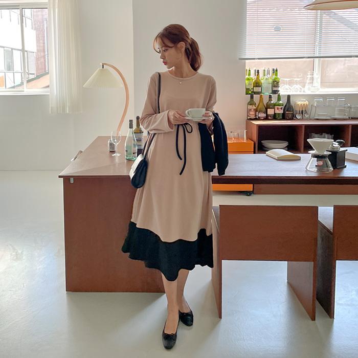 momnuri- 임부복*모코 스트링 원피스      ♡韓國孕婦裝連身裙