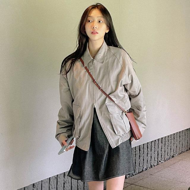 banharu-반하루[[MADE] 몬드 투웨이컬러 루즈핏점퍼]♡韓國女裝外套