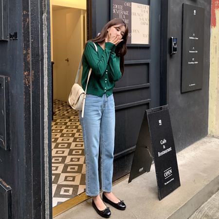 mimididi-[플르 데님 팬츠_4296]♡韓國女裝褲