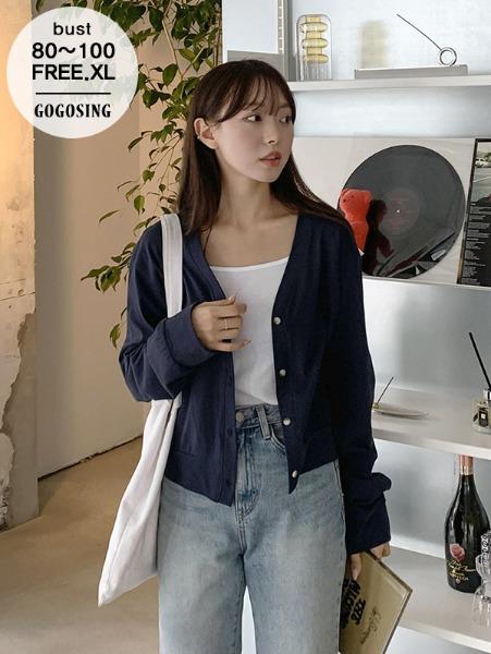 ggsing-[6일9시까지9%할인]조이코튼가디건 (V넥,긴팔,가둘레)♡韓國女裝外套