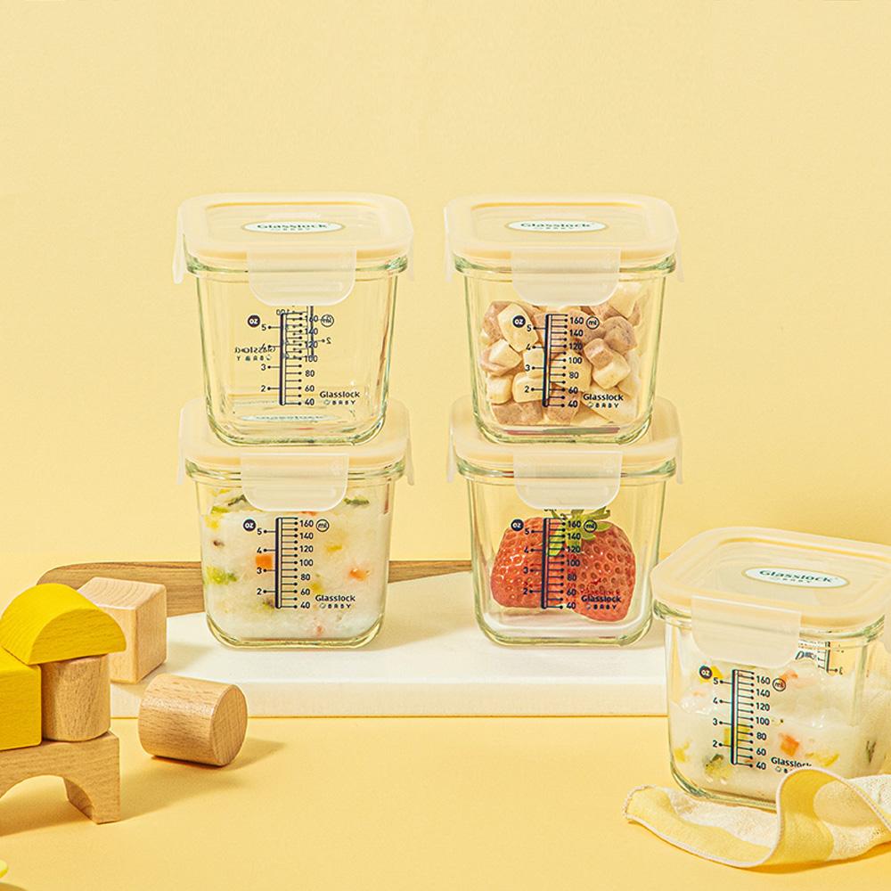 韓國製 Glasslock BABY 玻璃嬰兒食品容器 270ml