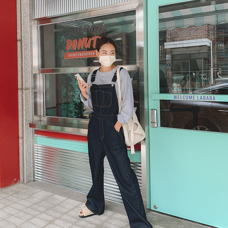 hanaunni-페이닝 오버롤 -pt♡韓國女裝褲