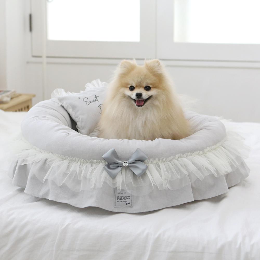 itsdog-[샤인 아델라 원형 베드 (블루그레이)]♡寵物生活用品