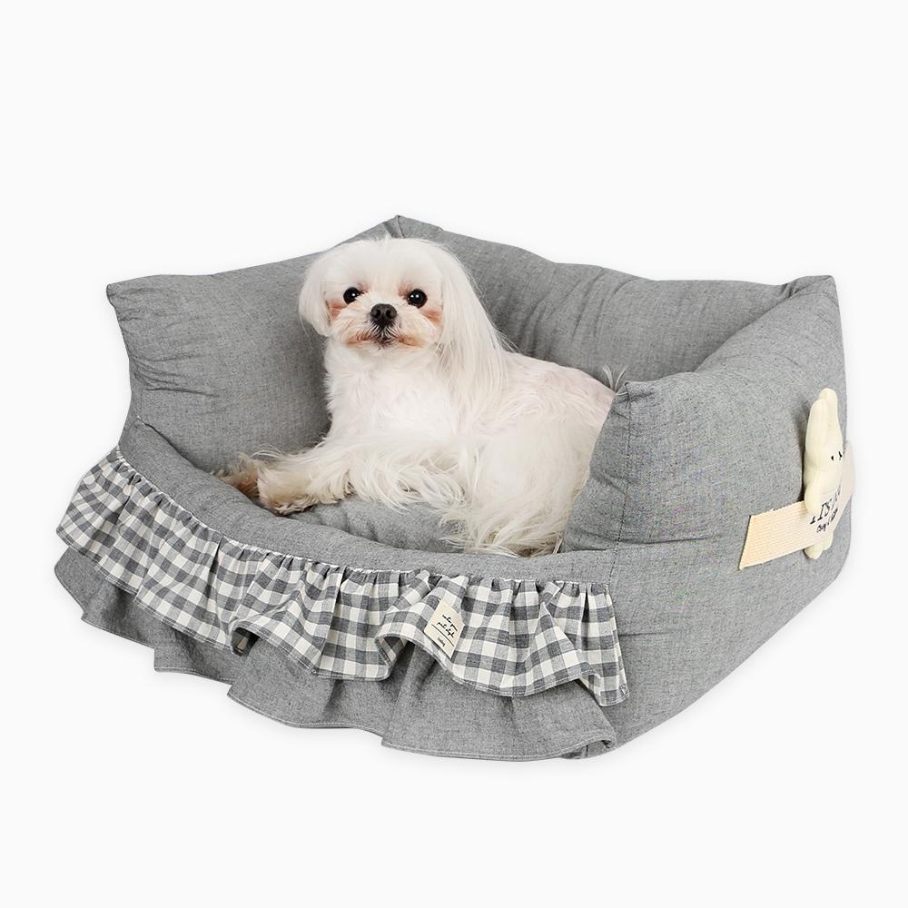 itsdog-[코네 프릴 베드 (그레이)]♡寵物生活用品