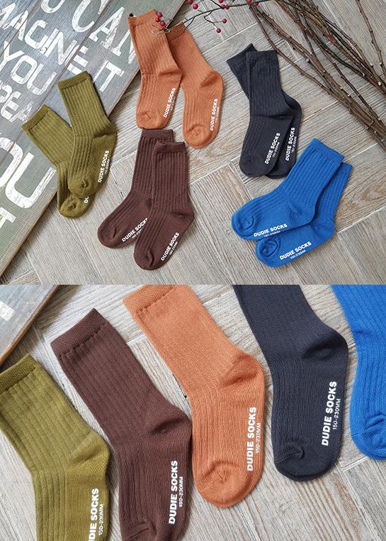 styleggom-심플 베이직 5종세트♡(5對裝)童裝襪子