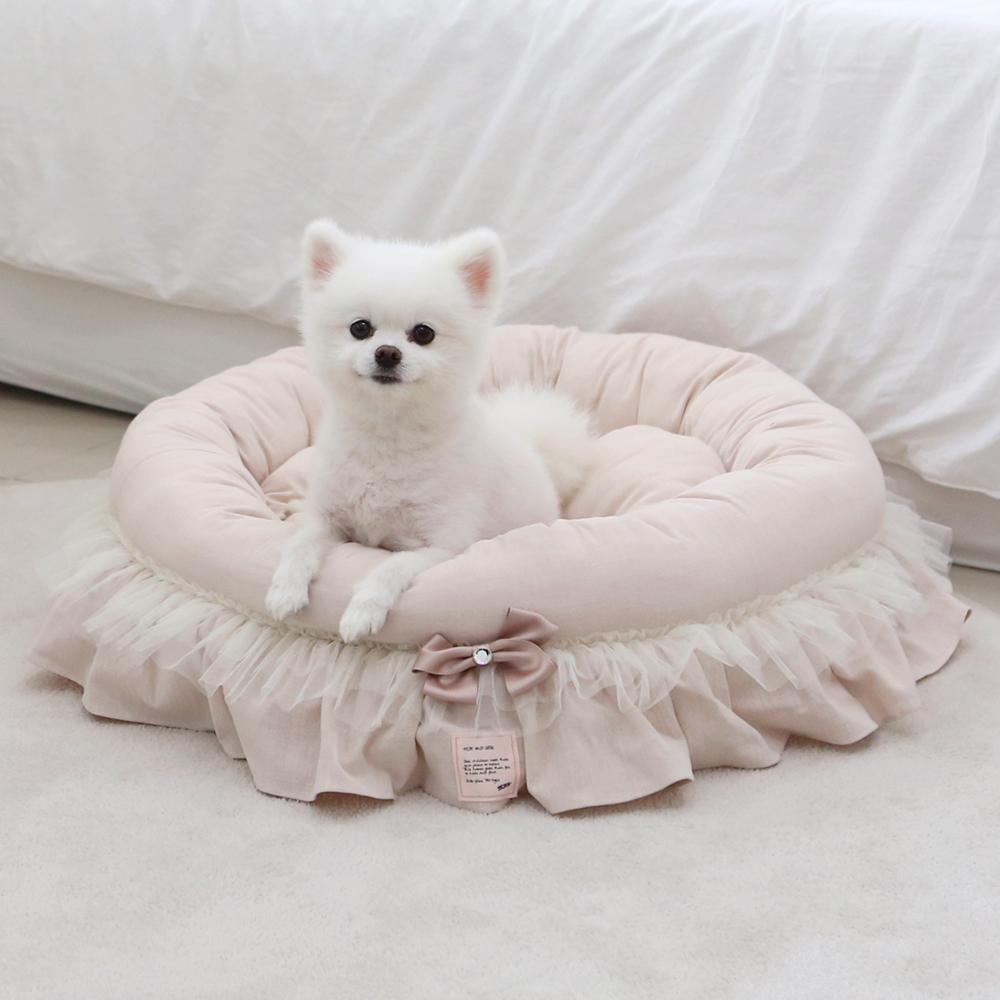 itsdog-[샤인 아델라 원형 베드 (핑크베이지)]♡寵物生活用品