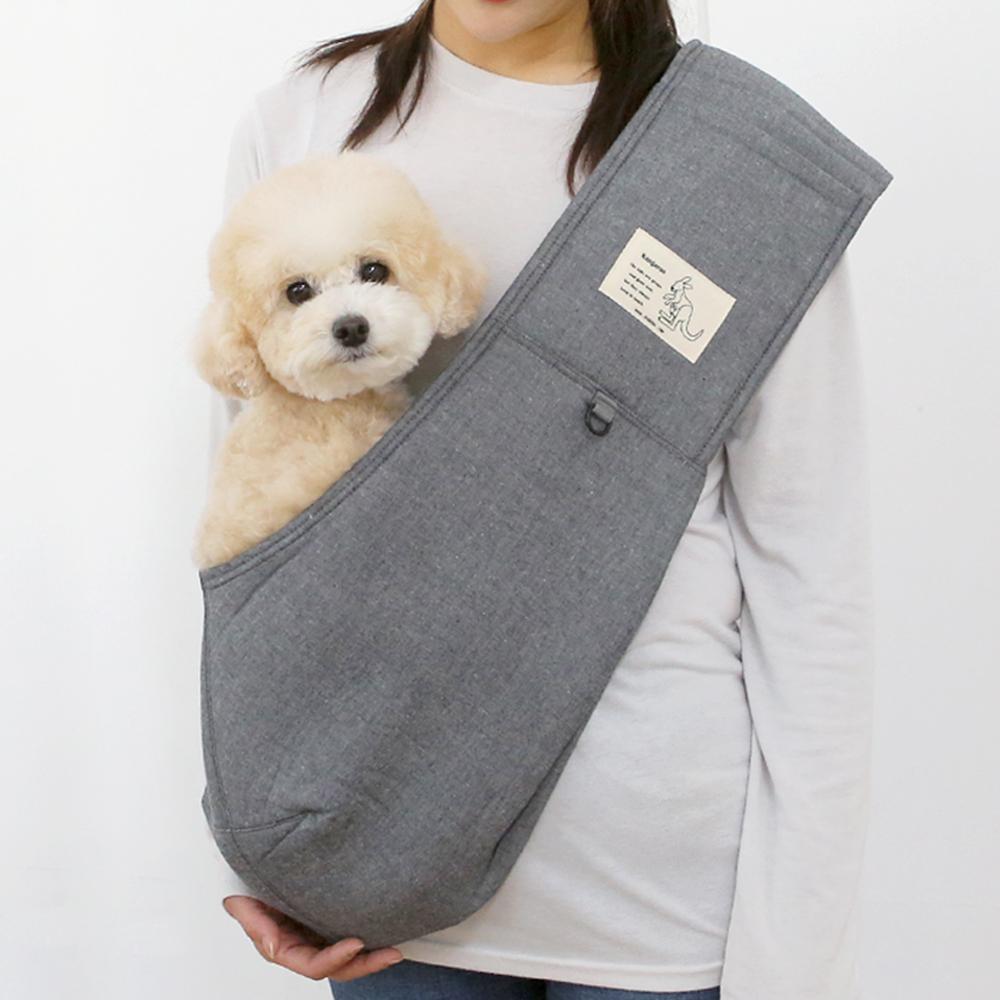 itsdog-[캥거루 스마트 슬링백 (블랙진)]♡寵物散步帶用品