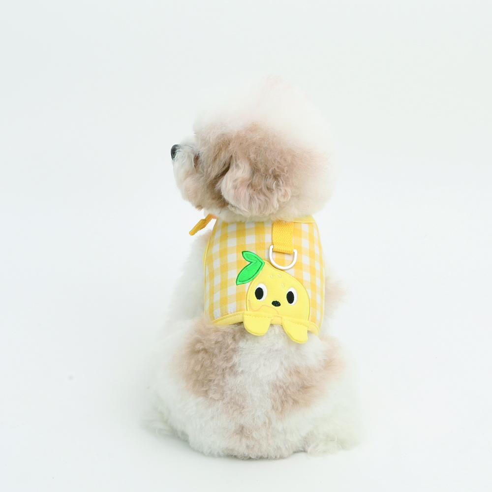 itsdog-[잼잼 까꿍 하네스 (레몬)]♡寵物散步帶用品
