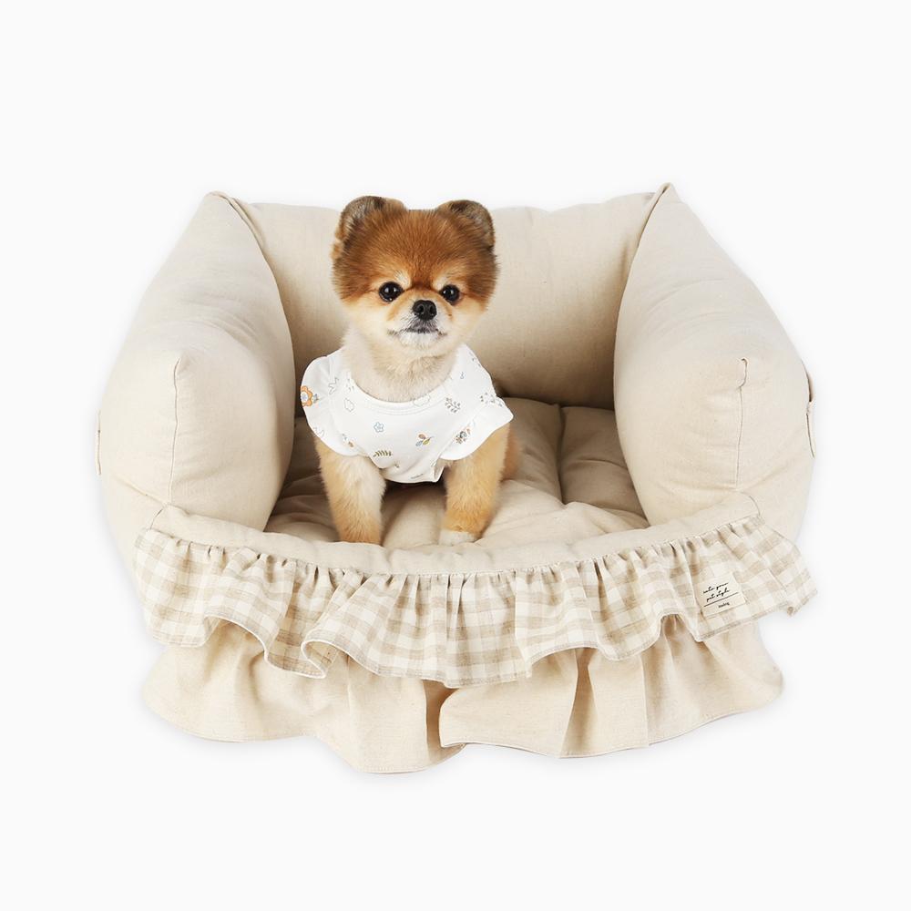 itsdog-[코네 프릴 베드 (베이지)]♡寵物生活用品