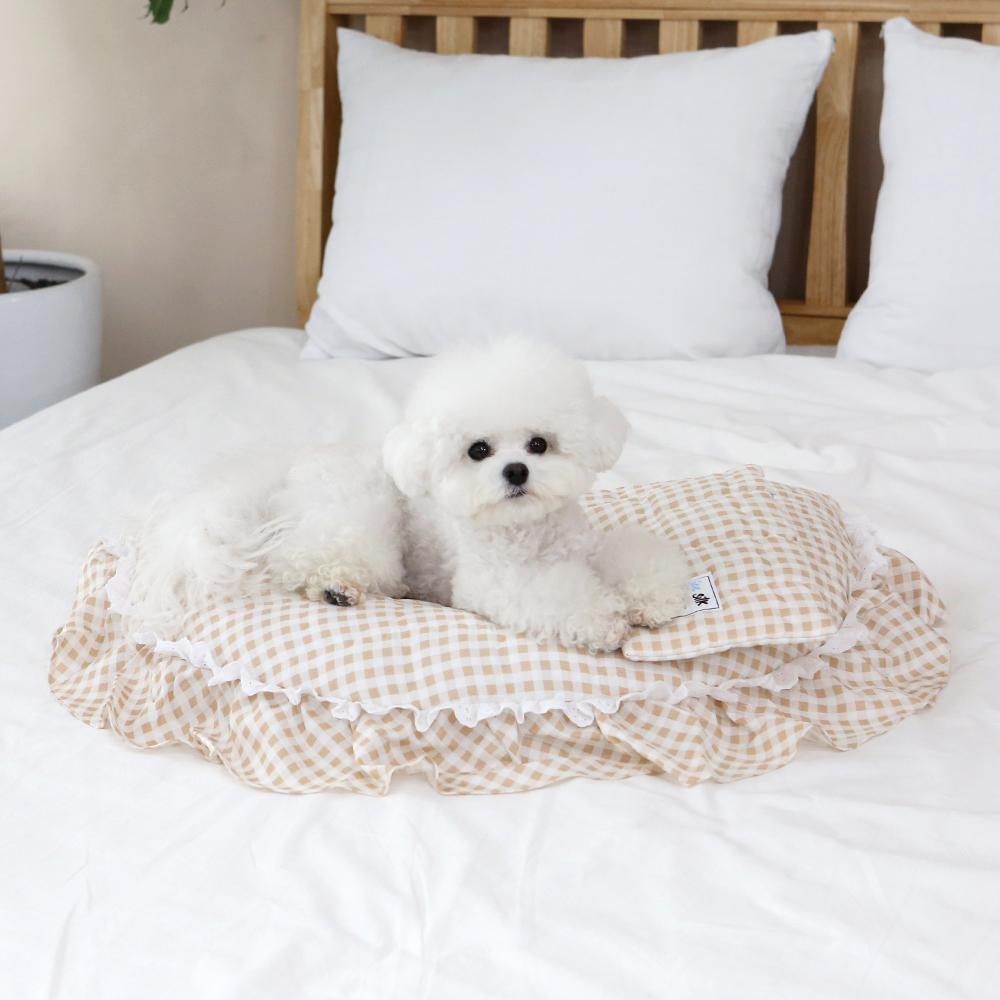 itsdog-[인견 와플 베드 (체크베이지)]♡寵物生活用品