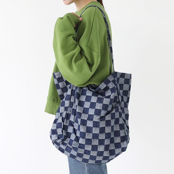 66girls-체스데님빅숄더백♡韓國女裝袋