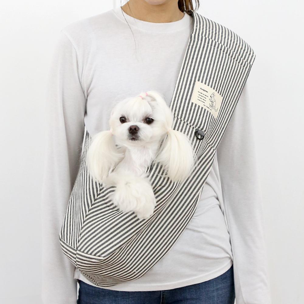 itsdog-[캥거루 스마트 슬링백 (스트라이프)]♡寵物散步帶用品