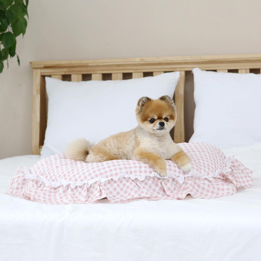 itsdog-[인견 와플 베드 (체크핑크)]♡寵物生活用品