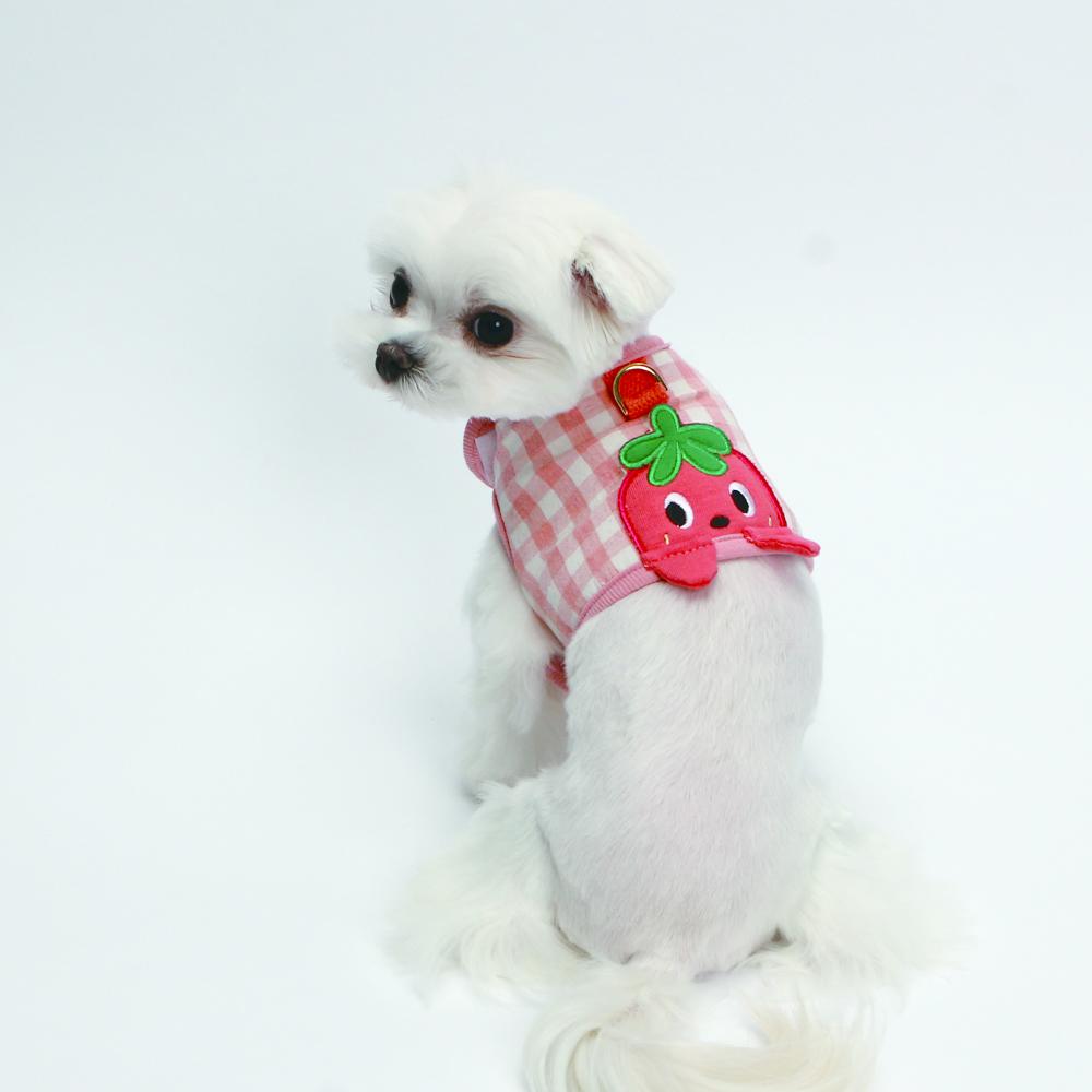itsdog-[잼잼 까꿍 하네스 (딸기)]♡寵物散步帶用品