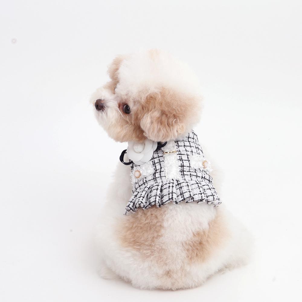 itsdog-[까멜리아 트위드 하네스 (블랙)]♡寵物散步帶用品