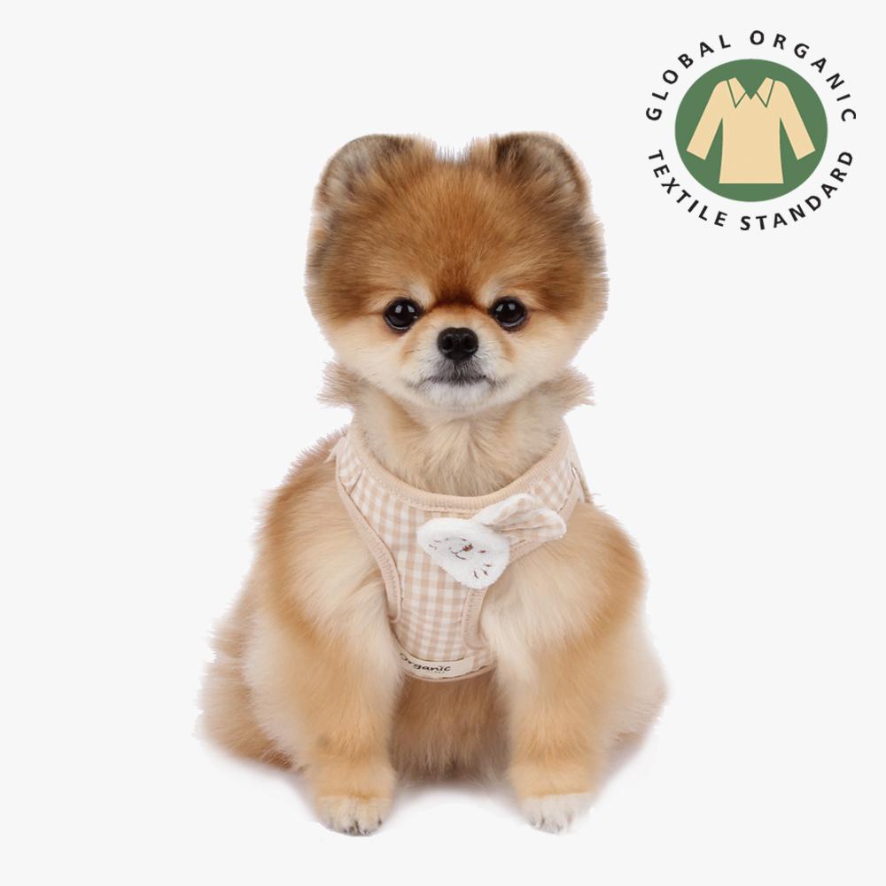 itsdog-[오가닉 바니 하네스 (체크)]♡寵物散步帶用品