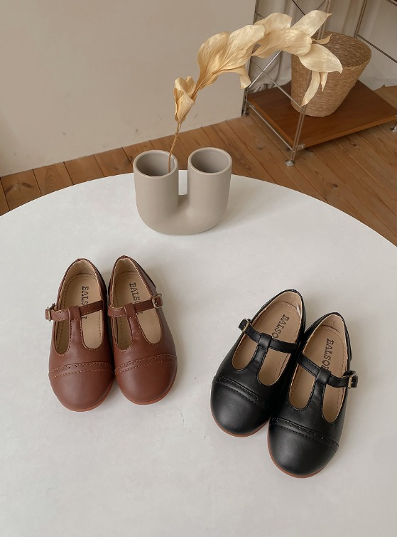 stylenoriter-[CBF] 테일 T 플랫.sho♡韓國童裝鞋