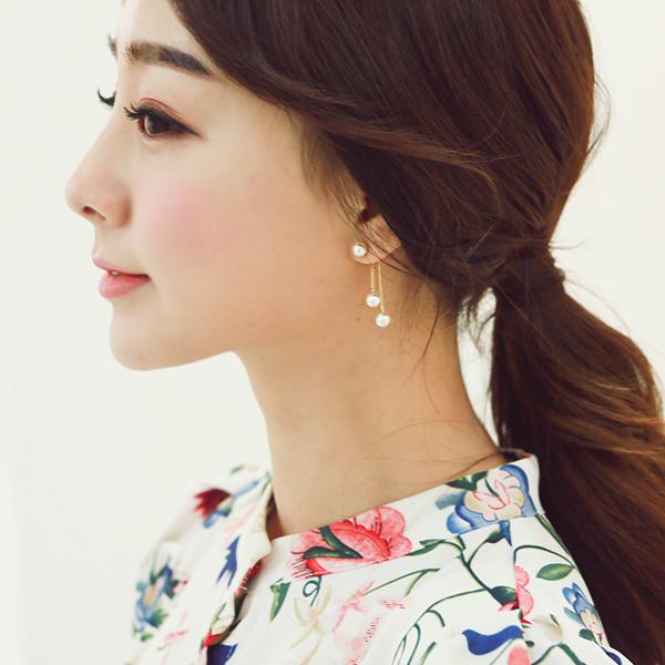 ode-[드롭 진주 귀걸이]♡韓國女裝飾品
