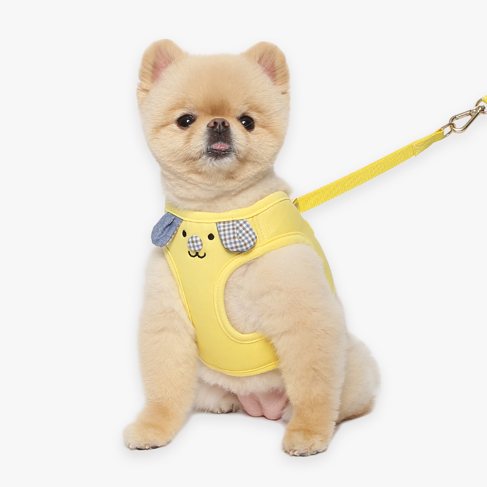 itsdog-[마이퍼피 하네스 (옐로우)]♡寵物散步帶用品