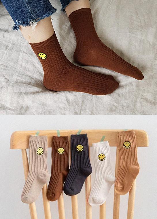 styleggom-언제나 스마일 5종세트♡(5對裝)童裝襪子