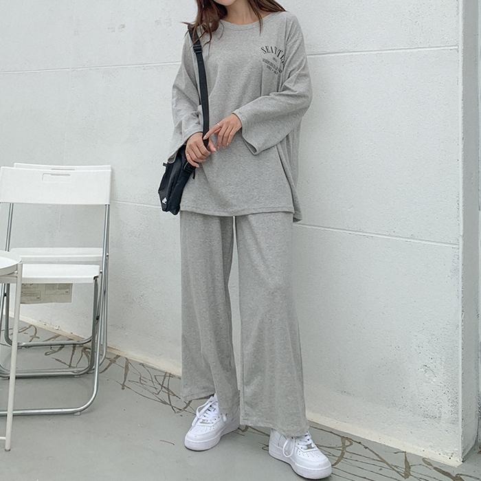 09women-[카일르 나염 맨투맨 팬츠 세트 61295]♡韓國女裝套裝