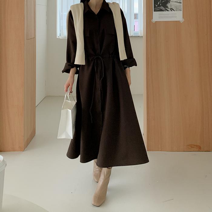 09women-[로아헬 셔츠 카라 롱 원피스 61221]♡韓國女裝連身裙