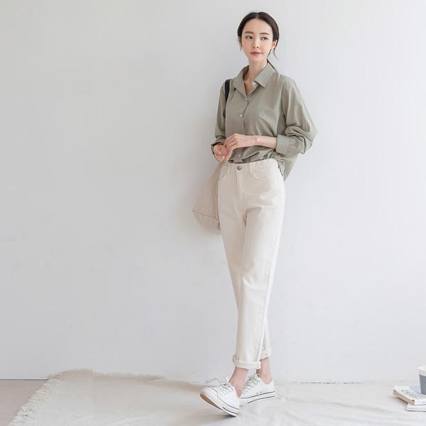 misscandy-[no.20994 히든밴딩 세미배기핏 코튼팬츠]♡韓國女裝褲