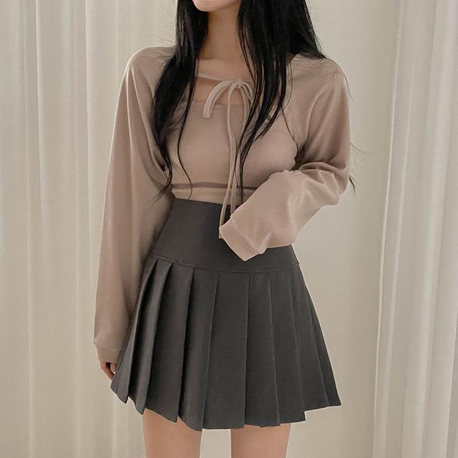 sonyunara-[SET] 밀키스 나시 리본 볼레로 세트♡韓國女裝上衣套裝