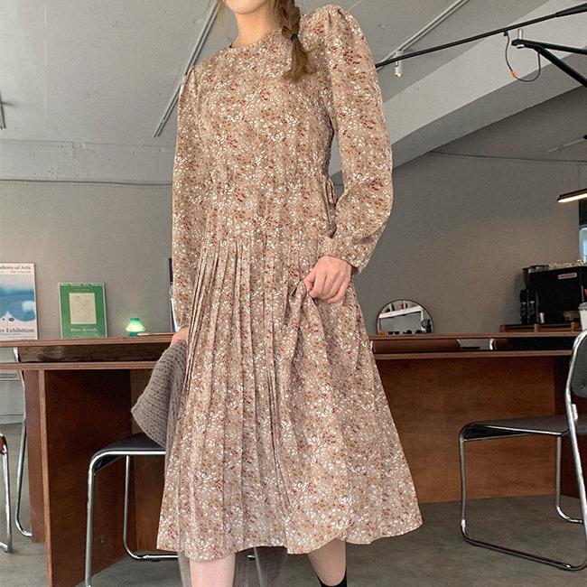 cherryville-[은은넘쳐흘러 플라워원피스]♡韓國女裝連身裙