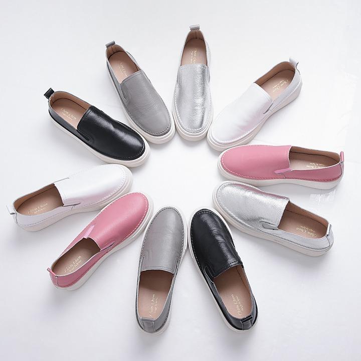 lemite-데일리 레더슬립온(소가죽)♡韓國女裝鞋