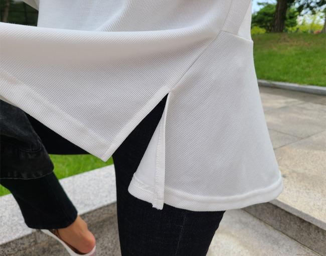 helloyoonsoo-후레아 절개 티셔츠♡韓國女裝上衣