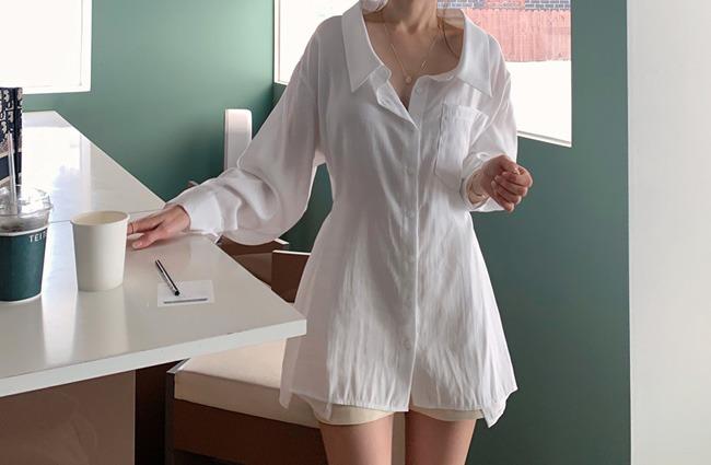 minsshop-스냅라인 셔츠 블라우스 (주문폭주!)♡韓國女裝上衣