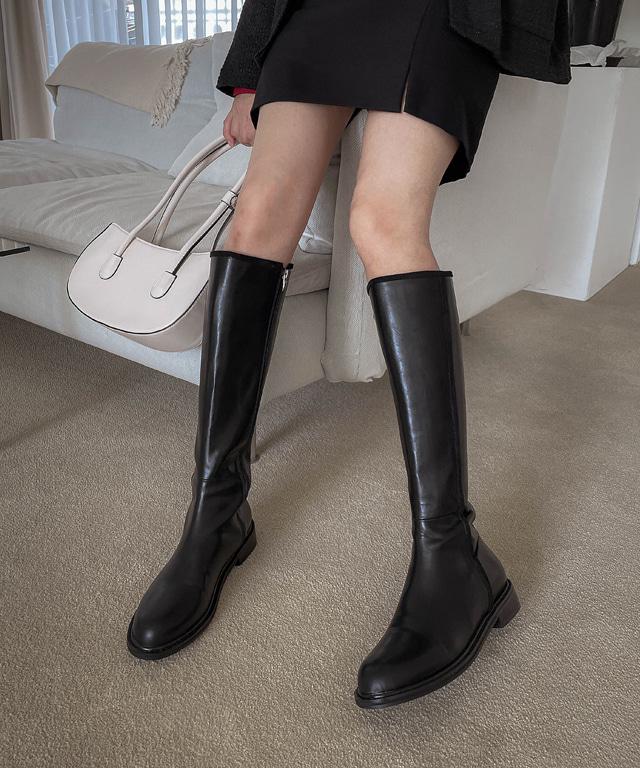 loveloveme-빈츠 라인 롱부츠 | 럽미♡韓國女裝鞋