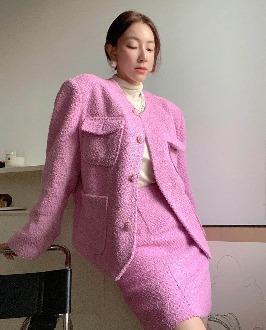 myclassy-boucle shine jacket♡韓國女裝外套