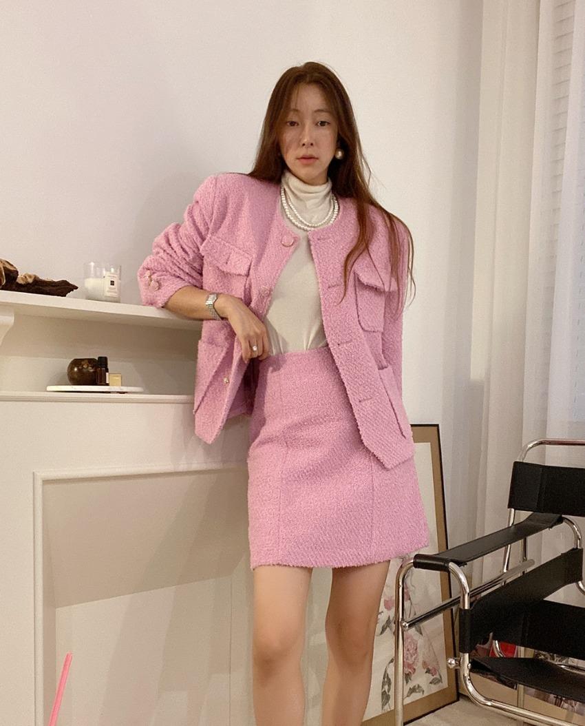 myclassy-Bouclé Shine Skirt♡韓國女裝裙