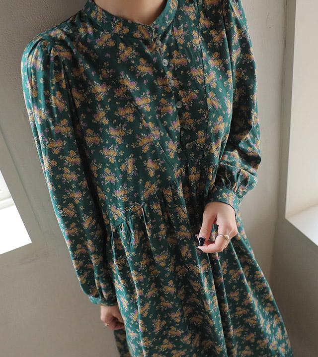 roompacker-룸페커 [씨드 차이나 루즈핏 프린팅원피스]♡韓國女裝連身裙