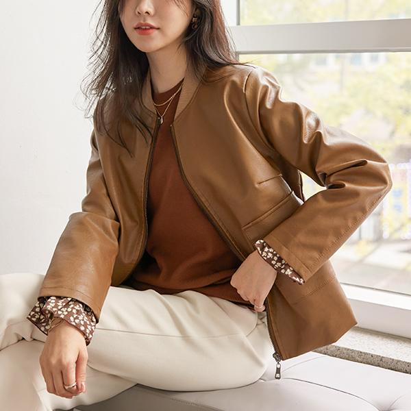 shehj-[맨하튼 PU레더 라이더 자켓]♡韓國女裝外套