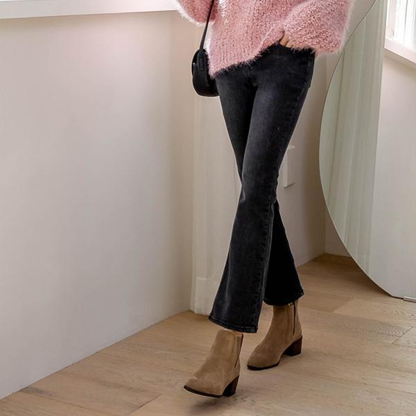 misscandy-[no.21133 히든밴딩 스크래치 부츠컷진]♡韓國女裝褲
