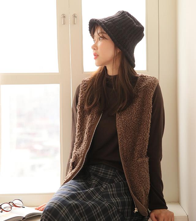 roompacker-룸페커 [테사 포켓 덤블 조끼]♡韓國女裝外套
