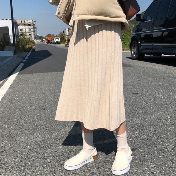 66girls-니트골지A롱SK♡韓國女裝裙